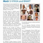MoU : S-VYASA and BNMIT